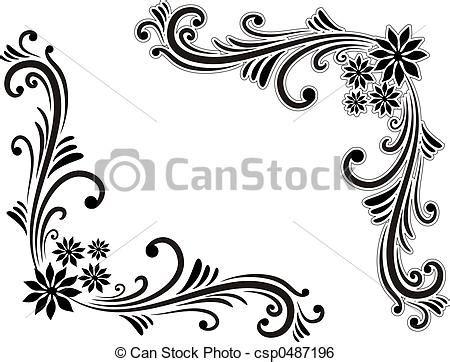 decorations drawings illustration de d 233 coration coin dessin 233