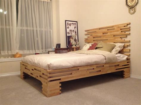 homemade beds molger leg frame to bed frame ikea hackers ikea hackers