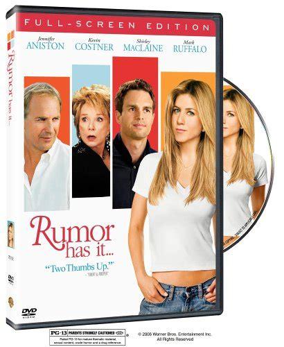 Rumor Has It 2005 Full Movie Rumor Has It 2005 Dvd Hd Dvd Fullscreen Widescreen Blu Ray And Special Edition Box Set