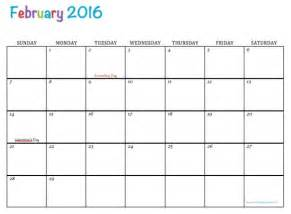 Calendar Printable 2016 February Elephant Printable Free February 2016 Calendar Calendar
