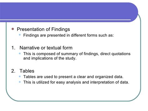 Presentation And Analysis Of Data In Thesis by Thesis Findings And Analysis Writinghtml Web Fc2