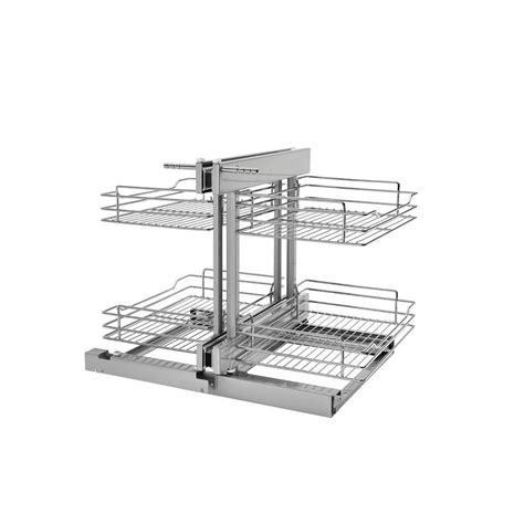 Rev A Shelf 18 In Corner Cabinet Pull Out Chrome 3 Tier | rev a shelf 18 in blind corner cabinet pull out chrome 2