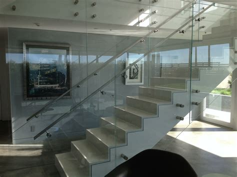 Glass Handrail Systems glass railings in torrance ca california reflections