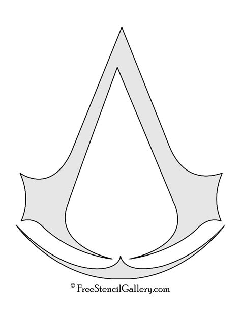 symbol templates assassin s creed symbol stencil free stencil gallery