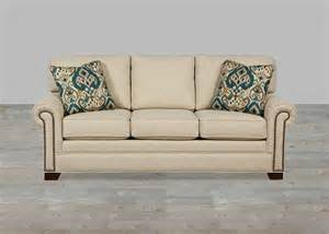 custom upholstered fabric sofa nailhead trim custom