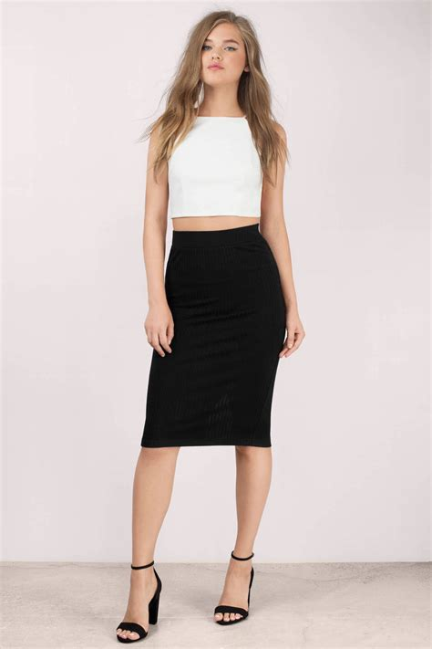 Black Pencil Skirt black skirt back slit skirt black pencil skirt