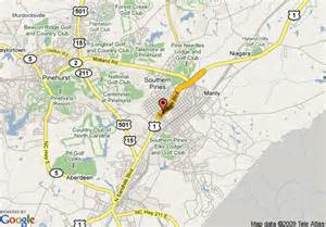 map of econo lodge suites southern pines