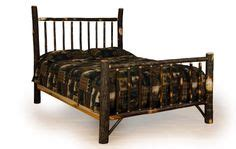 western style bed frames rustic hickory oak log furniture on logs
