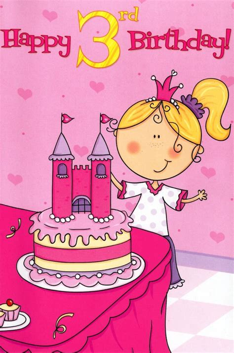 3rd Party Gift Card Services - 3 today special age girls 3rd birthday card cards love kates