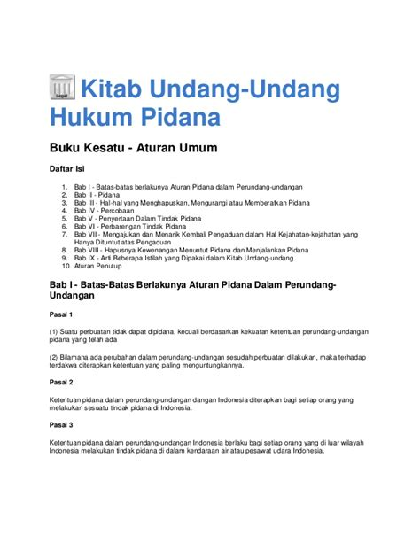 Kriminalisasi Dlm Hukum Pidana 2 kitab undang undang hukum pidana