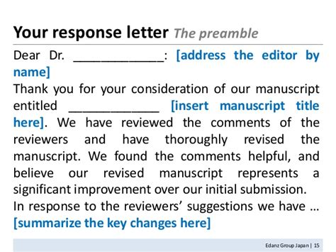 Response Letter For Manuscript How To Write A Paper 3 20120121