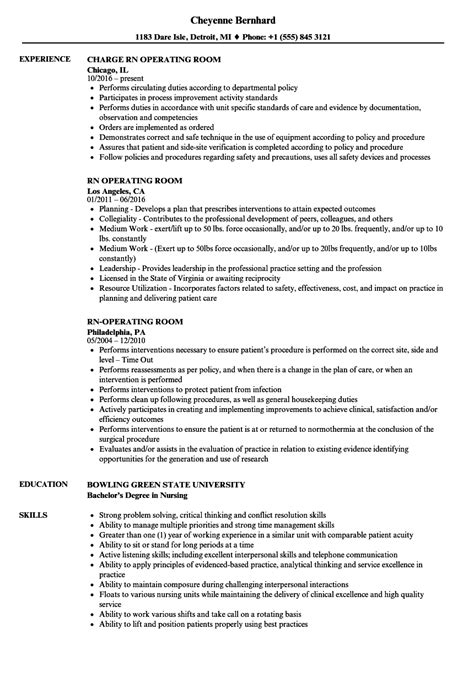 Operating Room Resume by Rn Operating Room Resume Sles Velvet