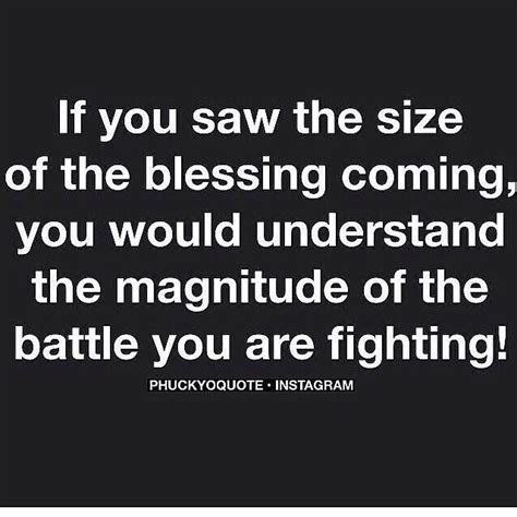 if you think you understand options then this if you saw the size of the blessing coming you would