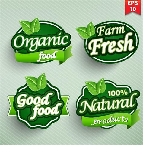 Food Label Design Eps | natural food label design vector 04 vector food vector