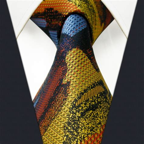 Handmade Tie - pattern multicolor mens tie neckties 100 silk handmade