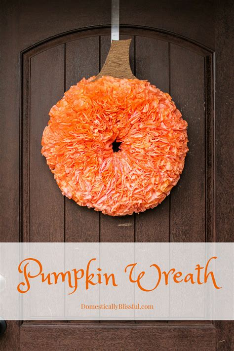 homemade thanksgiving decorations for the home diy pumpkin wreath
