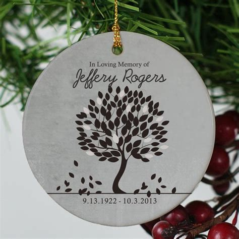 in loving memory ornament personalized christmas ornament