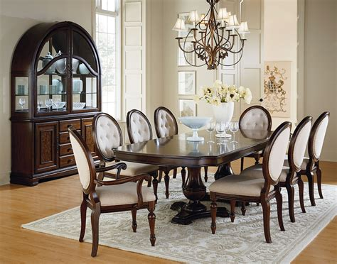 chestnut brown ped extendable dining