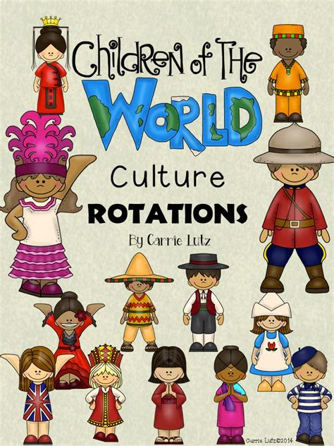 country clipart different culture pencil and in color