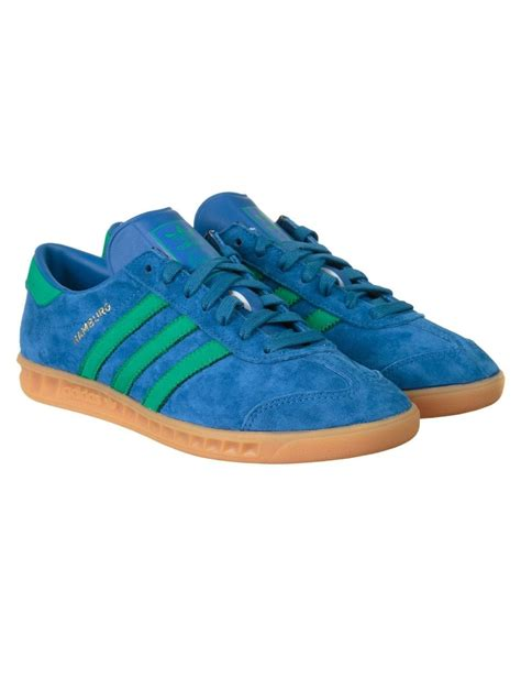 adidas originals hamburg shoes lush blue fresh green adidas originals from iconsume uk
