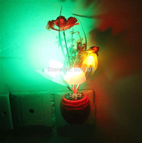 decorative led lights for home flowers mushroom color changing led photoreceptor light