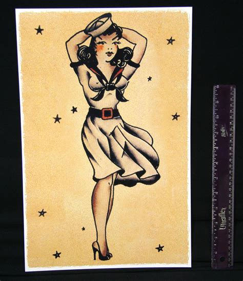 vintage pin up tattoo designs sailor jerry pin up