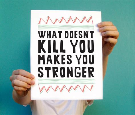 stronger what doesnã t kill you an addictã s ã s guide to peace books inspirational print what doesn t kill you makes by