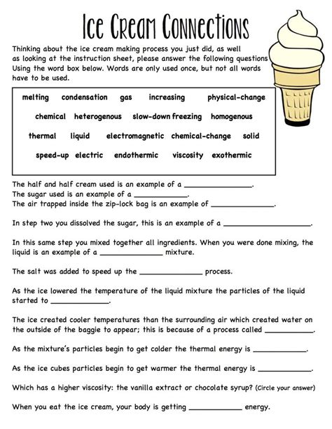 Energy Review Worksheet by Baggie Worksheet Connecting Ideas Together