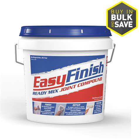 Bathroom Drywall Joint Compound Shop Easy Finish All Purpose 58 Lb Premixed All Purpose