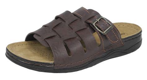 jesus shoes sandals mens gezer leather look mule style jesus sandals mules