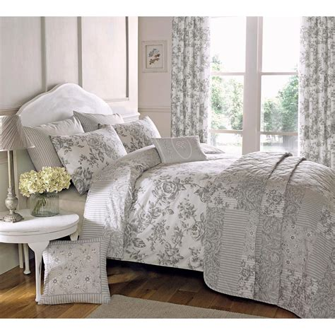 duvet bedding sets traditional toile duvet quilt cover floral bedding set in cream slate grey ebay