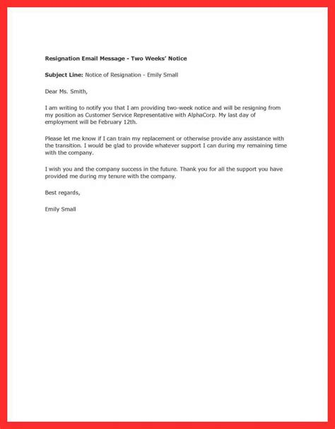 Proper Resignation Letter by Proper 2 Weeks Notice Resume Format