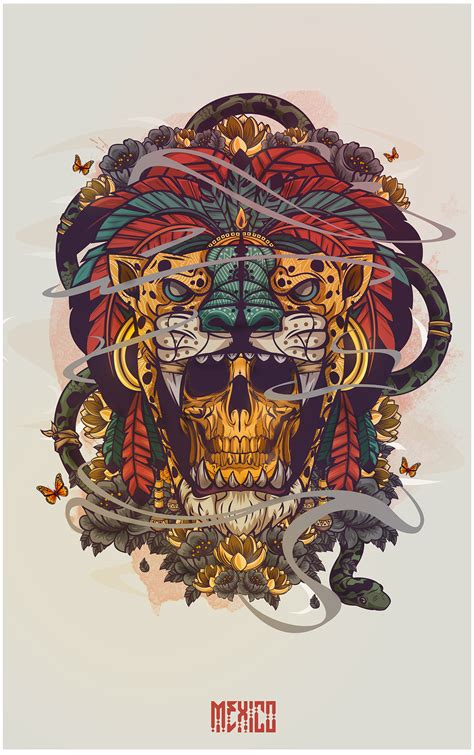 y design graphics hecho en mexico on behance skull passion pinterest