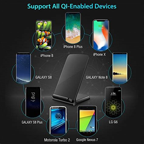 iphone x wireless charger turbot 3 coil qi wireless charging pad stand for iphone x iphone 8