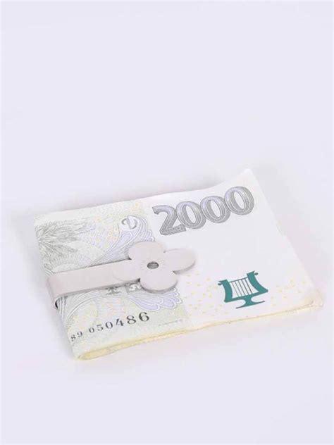 louis vuitton monogram flower silver money clip luxury