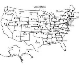 United states capitals printouts united states captials map printout