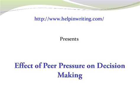 Effects Of Peer Pressure Essay by Write About Something That S Important The Effects Of Peer Pressure Essay