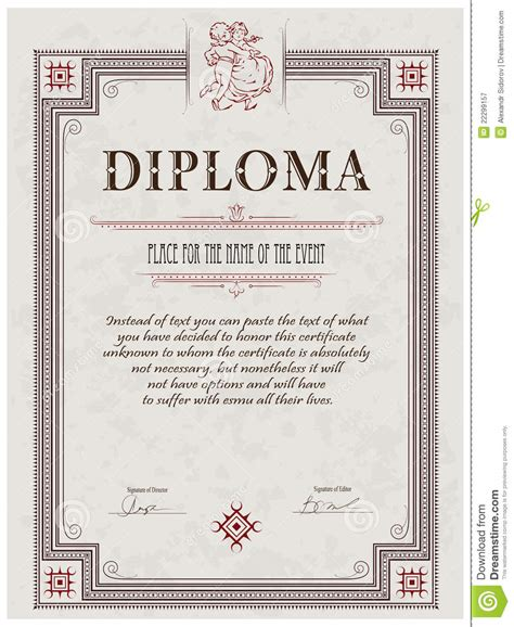 Diploma Free Diploma Template Pdh Certificate Template