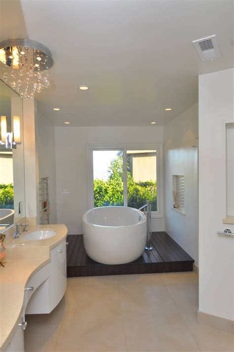Bath Tub Bench Mount Olympus Los Angeles Contemporary Bathroom And