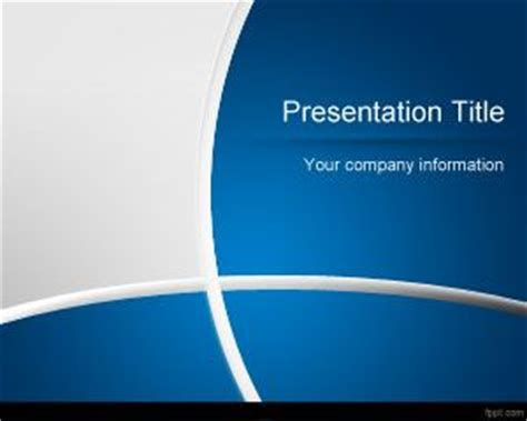 free blue art powerpoint template