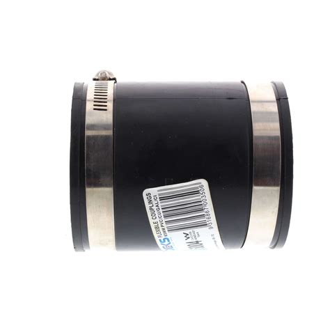 Jenco Plumbing - jenco 65mm dwv pvc coupling connector with 316 stainless