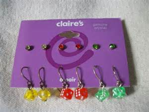 Free stuff for teen girls free dice studs claire s earrings 6 pair
