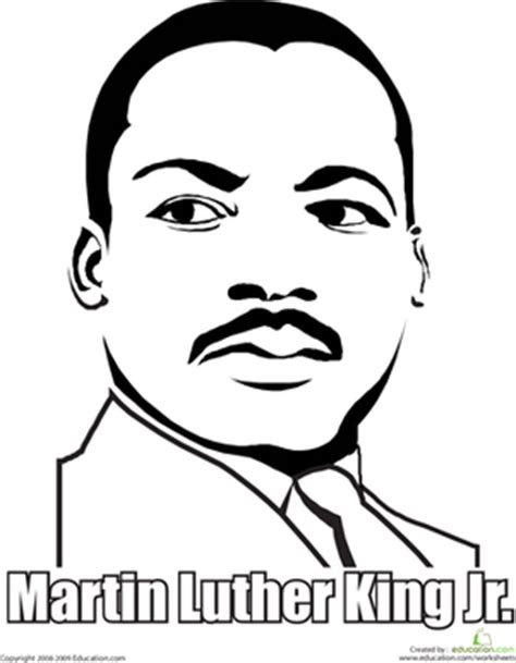 martin luther king jr coloring pages martin luther king jr worksheet education