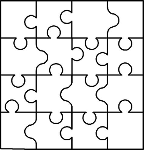 blank puzzle template free coloring pages