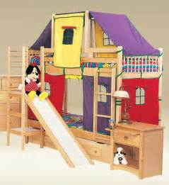 Kid Bunk Bed With Slide Birch Play Warmojo