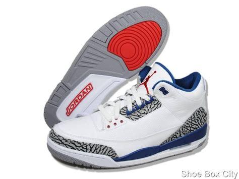 mens air retro 3 basketball shoes nike air s retro 3 iii white true blue
