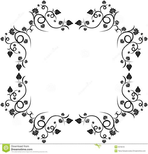 floral grape design frame stock vector illustration of