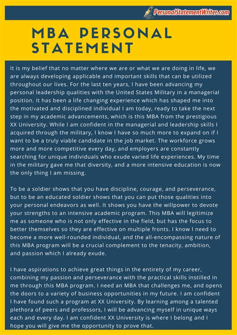 Personal Statement For Mba Course by Personal Statement Of Mba Exle