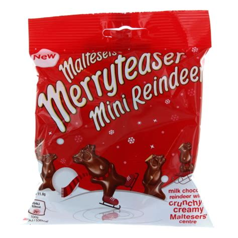 maltesers merryteaser mini reindeer bag