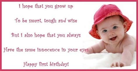 Baby Birthday Quotes 1st Birthday Poems
